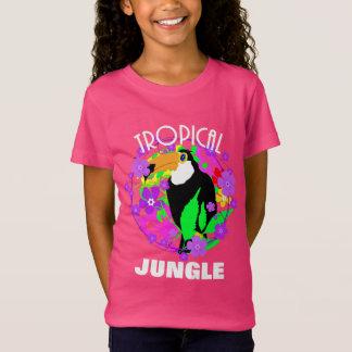 Camiseta Selva tropical bonito do pássaro exótico de Toucan