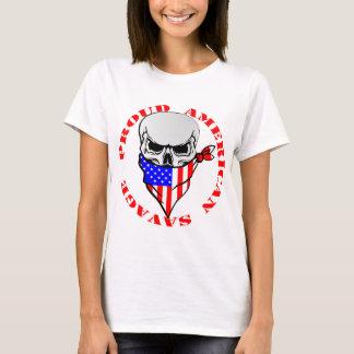 Camiseta © selvagem americano orgulhoso de