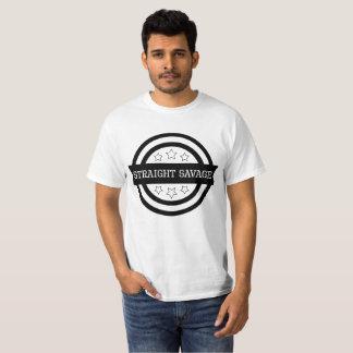 Camiseta Selvagem reto engraçado