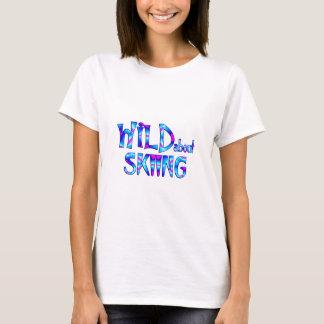 Camiseta Selvagem sobre o esqui
