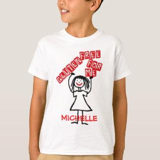 Camiseta Sem glúten para mim menina