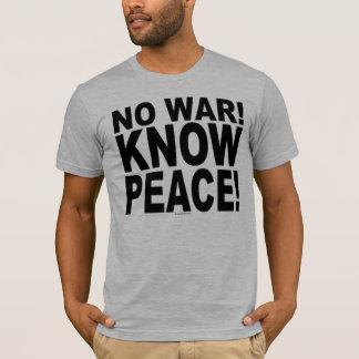 Camiseta Sem guerra! Saiba a paz!