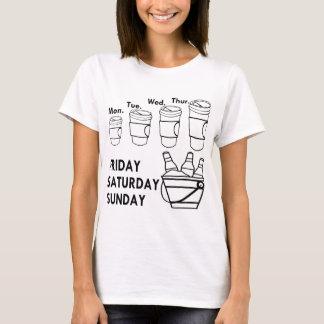 Camiseta Semana do café & fim de semana da cerveja