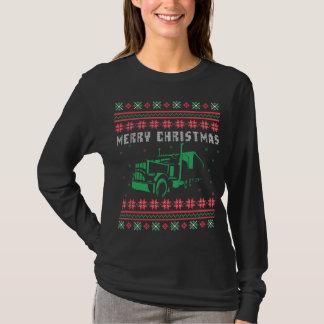 Camiseta Semi camisola feia do Natal do caminhão