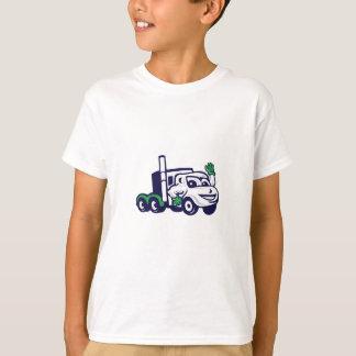 Camiseta Semi desenhos animados de ondulação do equipamento