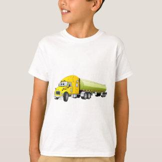 Camiseta Semi desenhos animados do reboque do petroleiro do