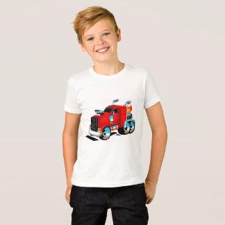 Camiseta Semi Tshirt do caminhão para meninos