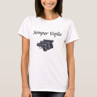 Camiseta Semper Vigilo - direito para manter e carregar os