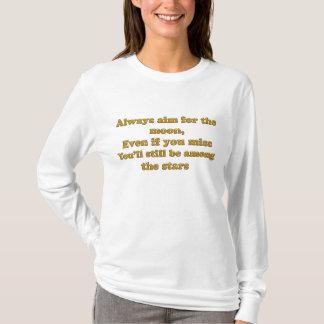 Camiseta sempre alvo para a lua