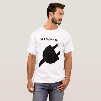 Camiseta Sempre tomada preto e branco