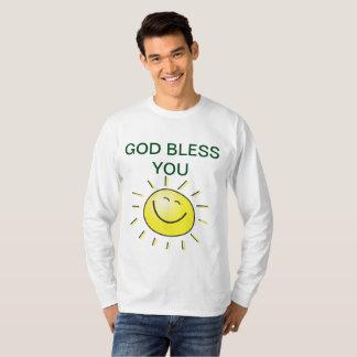 Camiseta Sendo abençoado pelo deus celestial