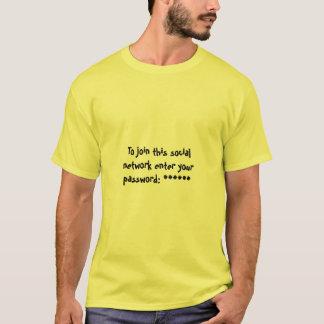 Camiseta Senha de rede social
