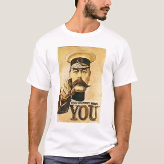 Camiseta Senhor Kitchener T-shirt do vintage
