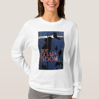Camiseta Senhora azul Arte Nouveau Propaganda