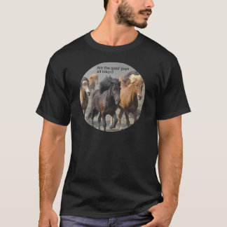 Camiseta Senhora Cavalo Bisbolhetice: São os bons rapazes