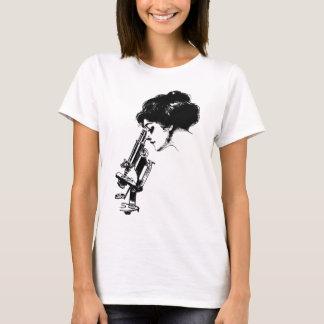 Camiseta Senhora com um microscópio