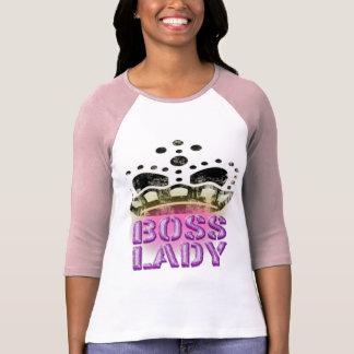 Camiseta Senhora Cor-de-rosa do chefe
