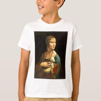 Camiseta Senhora da pintura de Da Vinci original com um