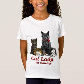 Camiseta Senhora do gato no treinamento