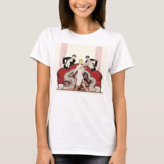 Camiseta Senhora elegante no t-shirt do art deco de Paris