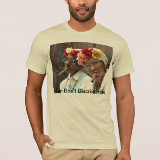 Camiseta Senhora idosa charuto