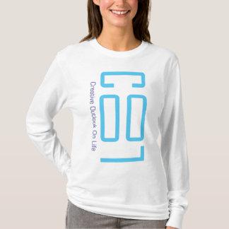 Camiseta Senhora LEGAL Hoodie do logotipo dos azuis bebés