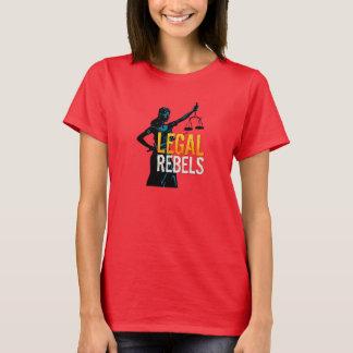 Camiseta Senhora legal Justiça dos rebeldes com tipo feito