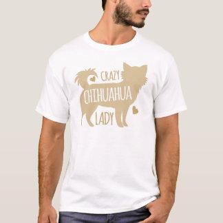 Camiseta senhora louca da chihuahua