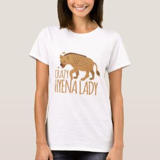Camiseta senhora louca da hiena