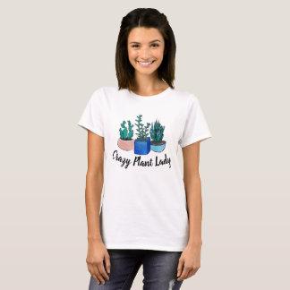 Camiseta Senhora louca da planta