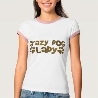 Camiseta Senhora louca do cão