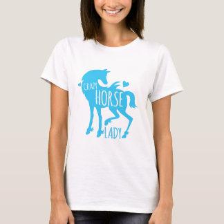 Camiseta Senhora louca do cavalo
