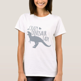 Camiseta Senhora louca do dinossauro