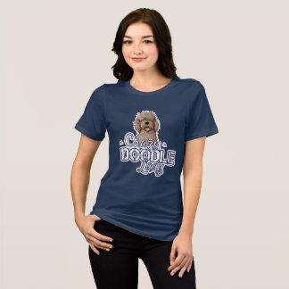 Camiseta Senhora louca do Doodle de KiniArt
