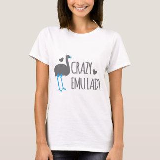 Camiseta senhora louca do emu