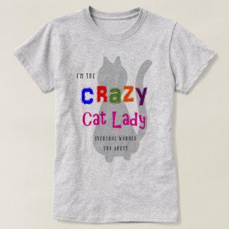 Camiseta Senhora louca do gato