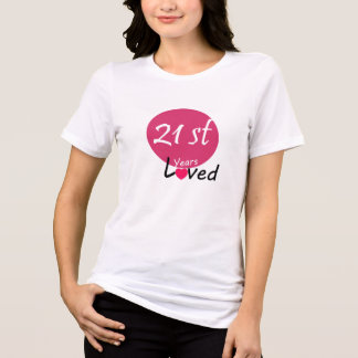 Camiseta Senhora original T-shirt do feliz aniversario 21