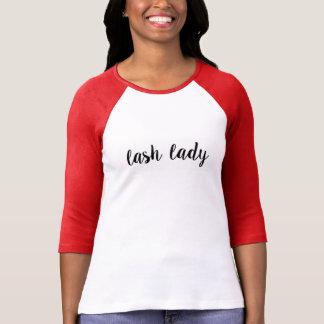 Camiseta Senhora Raglan do chicote