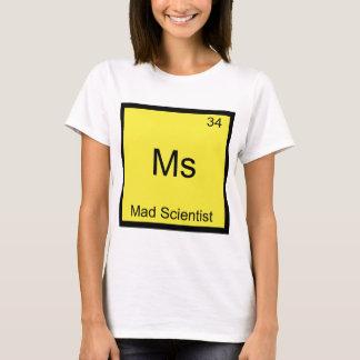 Camiseta Senhora - símbolo engraçado do elemento da química