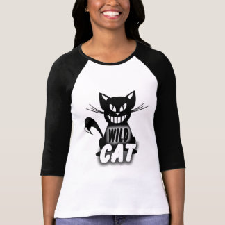 Camiseta Senhoras 3/4 de Raglan da luva (cabido),