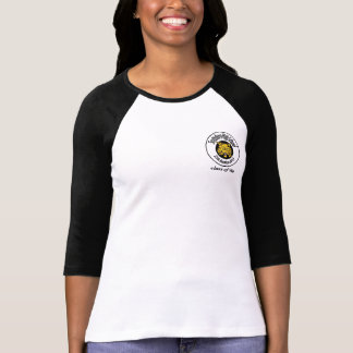 Camiseta Senhoras 3/4 de Raglan da luva (cabido)