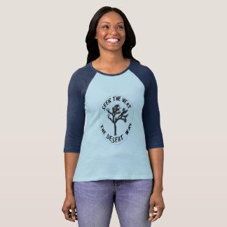 Camiseta Senhoras 3/4 de T da luva