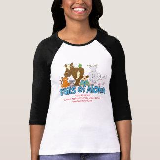 Camiseta Senhoras 3/4 de Tshirt da luva