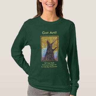 Camiseta Senhoras & adolescentes de Aleph da árvore da