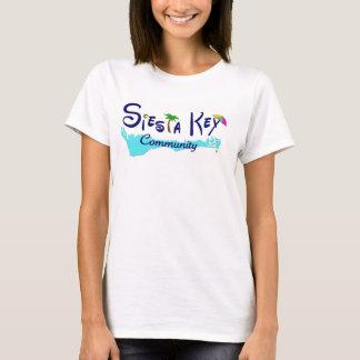 Camiseta Senhoras básicas t da comunidade chave do Siesta
