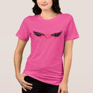 Camiseta Senhoras Bella e ajustado relaxado canvas T