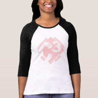Camiseta Senhoras C3 3/4 de luva preta com logotipo C3