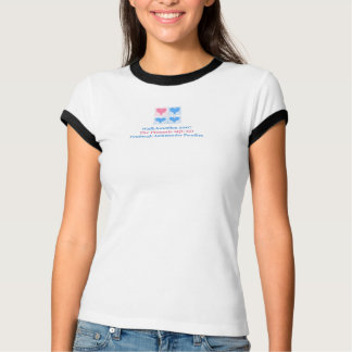 Camiseta senhoras/camisa campainha da juventude