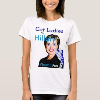 Camiseta Senhoras do gato para o #ImWithPurr básico de