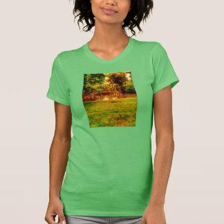 Camiseta senhoras do t-shirt da campainha do lago da